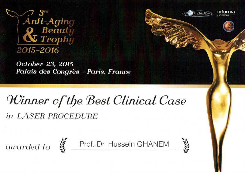 best laser treatment award paris 2015-2016